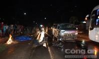 Xe 16 chỗ tông xe mô tô, một người tử vong tại chỗ