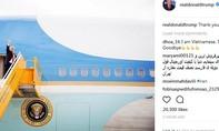 Tổng thống Trump gửi lời cảm ơn Việt Nam trên Instagram