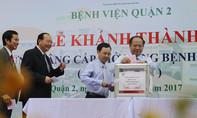 Lãnh đạo TP.HCM quyên góp ủng hộ đồng bào miền Trung tại Lễ khánh thành mở rộng BV Quận 2