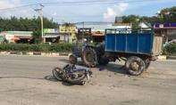 Xe máy cày chạy ngược chiều tông xe máy, một người nguy kịch