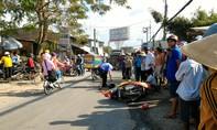 Một người bị xe ben cán tử vong sau khi va quẹt với người đi bộ