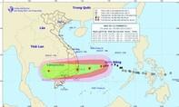 Bão số 12 tiếp tục mạnh thêm, dự kiến đổ bộ vào Nam Trung Bộ