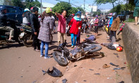 'Xe điên' gây tai nạn liên hoàn, 2 người trọng thương