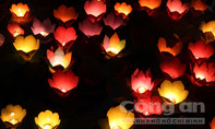 Hàng ngàn người Sài Gòn thả hoa đăng cầu an trong đêm Tết Nguyên Tiêu
