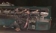Xe khách giường nằm bất ngờ phát nổ trên quốc lộ