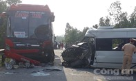 Hai xe khách đấu đầu, 4 người thương vong