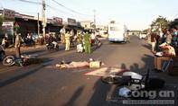 Va chạm xe máy, người phụ nữ bị xe buýt cán tử vong
