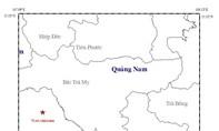 Động đất 3,9 độ Richter ở huyện Nam Trà My