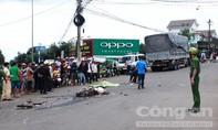 Một phụ nữ chết thảm dưới bánh xe tải