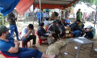 Hàng chục trinh sát đột kích trường gà lớn ở Quảng Ngãi