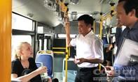Giám đốc Sở GTVT đi xe buýt kiểm tra 2 công trình cầu vượt thép