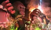 Lan Khuê hoảng loạn chạy thoát khỏi đám cháy lớn ở ra mắt phim 'Kong'