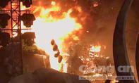 Cháy sân khấu ra mắt phim 'Kong: Skull Island' ở TP.HCM