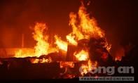Cháy dữ dội ở công ty mây tre đan, thiệt hại hàng tỷ đồng