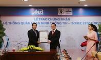 MB nhận chứng chỉ ISO/IEC 27001:2013 của Viện tiêu chuẩn Anh