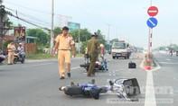 Va chạm giao thông, hai anh em ruột bị thương nặng