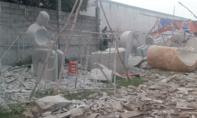 Cắt đá điêu khắc, nam công nhân bị điện giật chết