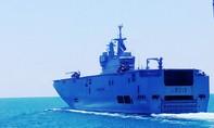 Tàu Hải quân Việt Nam luyện tập cùng hai chiến hạm hải quân Pháp