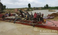 Hút cát trái phép vẫn diễn ra trên địa bàn huyện Ea Kar