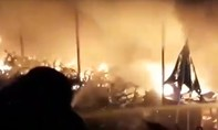 Cháy lớn tại kho bãi giữ xe số 1 TP.Biên Hòa