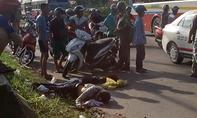 Hai thanh niên thương vong nằm trên quốc lộ nghi do tai nạn