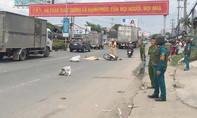 Người đàn ông bảo vệ chết thảm dưới bánh xe container