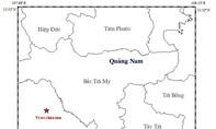 Động đất 2,7 độ Richter ở khu vực huyện Nam Trà My