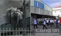 Cháy ống khói nhà máy DongJin, hàng trăm công nhân hoảng loạn