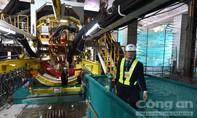 Chùm ảnh: Bên trong 'quái vật' đào hầm nặng 300 tấn thi công tuyến Metro số 1