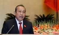 Phó Thủ tướng Trương Hoà Bình trả lời chất vấn