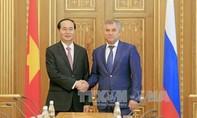 Chủ tịch nước hội kiến Chủ tịch Duma Quốc gia Nga