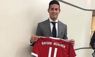 Bayern hoàn tất thương vụ thần tốc với James Rodriguez từ Real