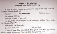 Bắt khẩn cấp đối tượng âm mưu lật đổ chính quyền tại Nghệ An