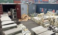 Hàng điện tử, điện lạnh 'đội lốt' vải vụn nhập cảng Cát Lái