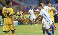 Malaysia vất vả 'vượt ải' Brunei trong trận đầu ra quân SEA Games