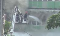 Cháy khu nhà ăn của công ty PouYuen ở TP.HCM