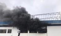 Cháy lớn tại công ty nhựa trong Khu công nghiệp Quế Võ
