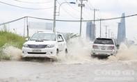 Một trận mưa, đường Lương Định Của ngập cả ngày chưa rút