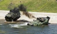 Xe thiết giáp Mỹ bốc cháy, 15 binh sĩ thương vong