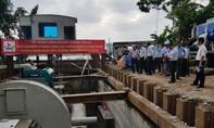 Thử nghiệm thành công 'siêu máy bơm' chống ngập đường Nguyễn Hữu Cảnh