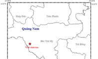 Xảy ra động đất mạnh 2.8 độ richter ở huyện Bắc Trà My