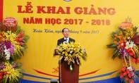Chủ tịch nước Trần Đại Quang đánh trống khai giảng năm học 2017-2018