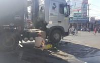 Xe container tông xe đạp điện, một người tử vong
