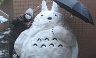 Ngộ nghĩnh người tuyết tại Nhật Bản