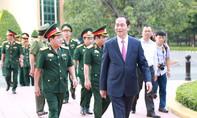 Chủ tịch nước Trần Đại Quang thăm và chúc Tết Quân đoàn 4