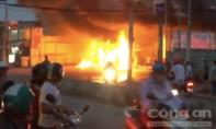 Cây xăng ở Sài Gòn cháy rụi nghi mũi khoan phát tia lửa