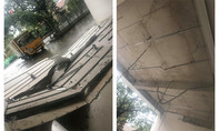 Mưa to kèm gió lốc, trần nhà chung cư ở Sài Gòn bị sập
