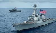 Mỹ điều 2 tàu chiến qua eo biển Đài Loan