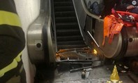 Thang máy cuốn bị trục trặc, 20 người bị thương