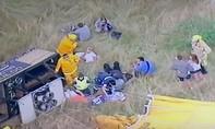 Khinh khí cầu rơi từ độ cao 500 mét, 16 người bị thương